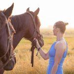 Uit mijn portfolio: vrouw met paard
