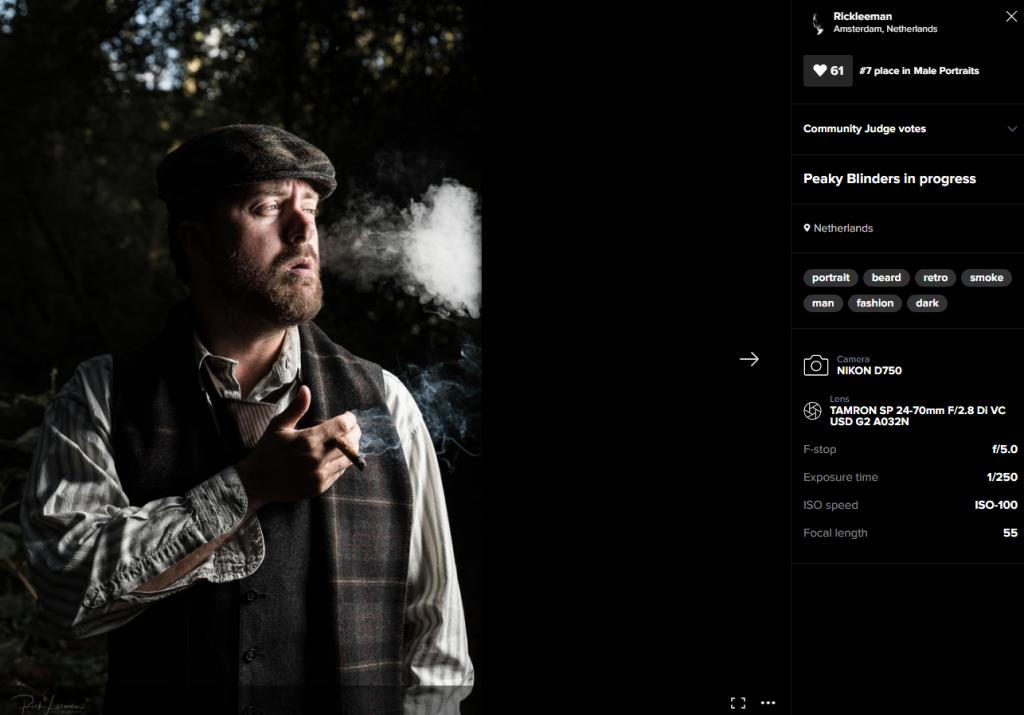 Met deze portretfoto van mijn broer eindigde ik op plek 7 in een fotowedstrijd